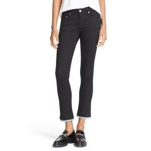 Rag & Bone BLK BUQUET Ankle Jeans Size 26
